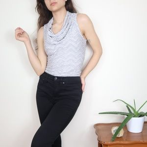 Anthro Deletta Nava Cowl Neck Sleeveless Top